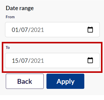 Change the end date in the date range box to see more appointment times
