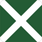 green sign with a white x through it