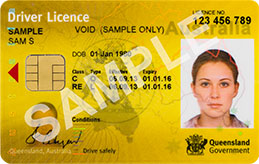 Queensland licence with chip