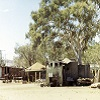 An Aboriginal camp on the river at Mt Isa, April 1972