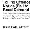 Sample of tolling offence unit infringement notice
