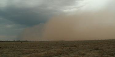Dust storm, western Queensland, in October 2007