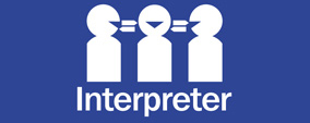 National interpreter service symbol