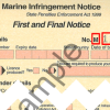 Sample marine infringement notice showing the infringement number