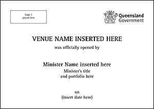 Example plaque template