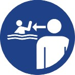 Safety sign to be printed or embosses on portable pool.