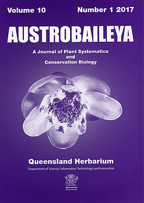 Cover of Austrobaileya journal