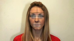 Facial image recognition area