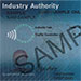 Sample of industry authority showing the customer reference number