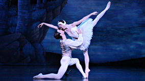 A scene from the Queensland Ballet's production of Swan Lake.