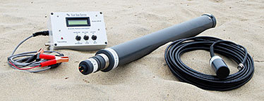 Image of hydrophone and sub-sonic release equipment used at Wolf Rock.