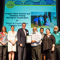 2017 Queensland Reconciliation Awards—Partnership award highly commended—Douglas Hire Council and Jabalbina Yalanji Aboriginal Corporation for Return to Country Local Planning Scheme