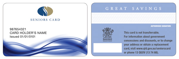 Card types and benefits | Seniors | Queensland Government