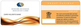 Seniors Business Discount Card